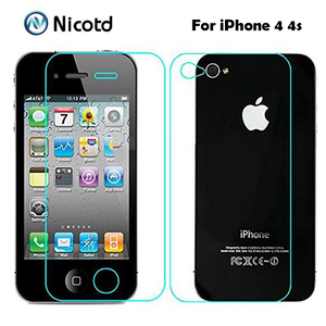 Image 1 - 2Pcs/Lot 0.3mm 2.5D Front and Back Tempered Glass for iPhone 4s 4 Anti Explosion Protective Screen Protector Film  For iPhone 4