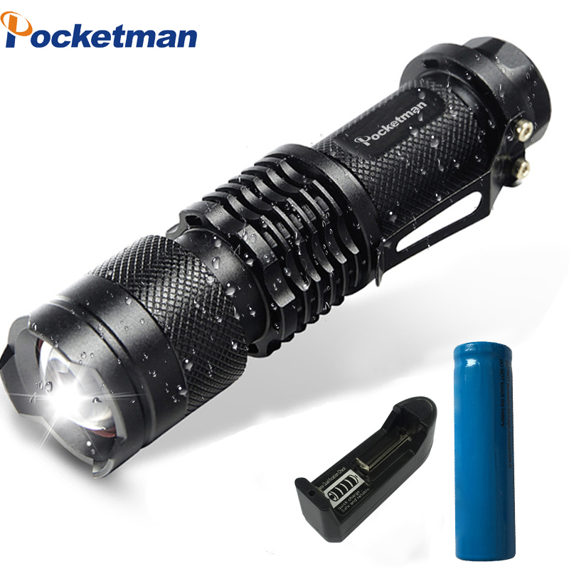 Mini LED Flashlight 4000LM Q5 T6  L2 LED Torch Adjustable Focus Zoom Flash Light Lamp Use 14500 And 18650 Battery Give Gift