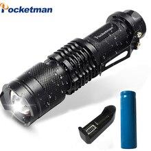 Mini LED Flashlight 4000LM Q5 T6  L2 LED Torch Adjustable Fo