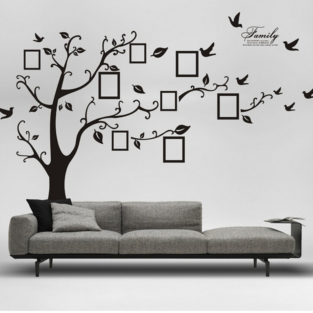 Bedroom wall art trees - Diy Home Rome Removable Tree Bird Wall Stickers Art Decal Wall Art Sticker Plant Mural Bedroom