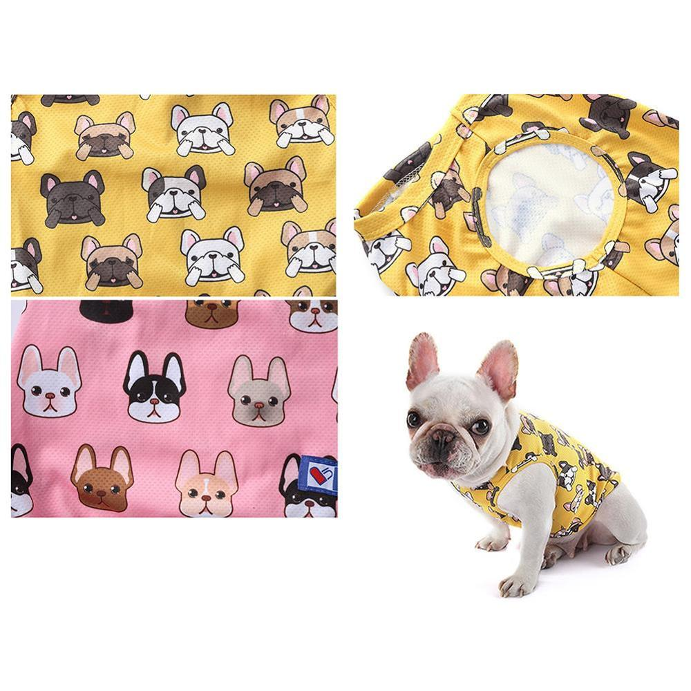 Cute Fashion French Bulldog Summer Cooling T shirt Outdoor Vest Pet Clothes Dogs Pets Clothing Cat Dog Apparel Pug Costume ZZC01 in Dog Vests from Home Garden