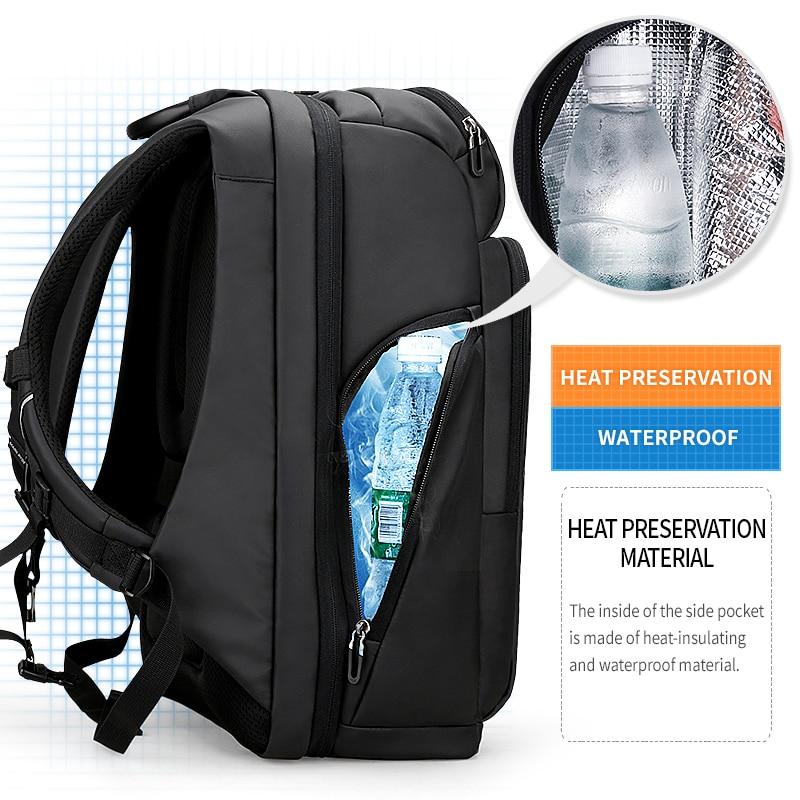 Mark Ryden hommes sac à dos multifonction USB charge 17 pouces pochette d'ordinateur grande capacité étanche sacs de voyage pour hommes - 4