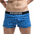 Seobean Brand Men's Underwear Boxer Shorts Trunks Cotton Sexy Low Rise Sleep Underpants Gay Penis Men Boxers 2017 New Trunks