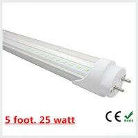 T8 led tubo de luz de lámpara 25 vatios de luz hacia abajo 18 w 5ft t8 llevó el tubo blanco frío \ blanco cálido 150 cm envío libre