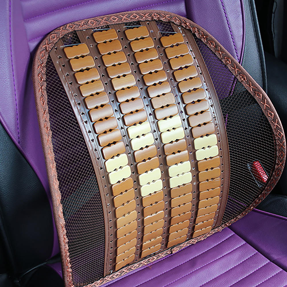 New Summer Cool Mesh Bamboon Back Support Pad Waist Massage Car Seat Cushion