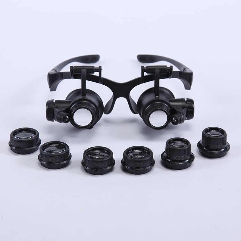 8d67cedbac Gafas de aumento 9892GJ 10x 15x 20x 25x Lupa lentes ajustables para joyero  relojero herramientas de