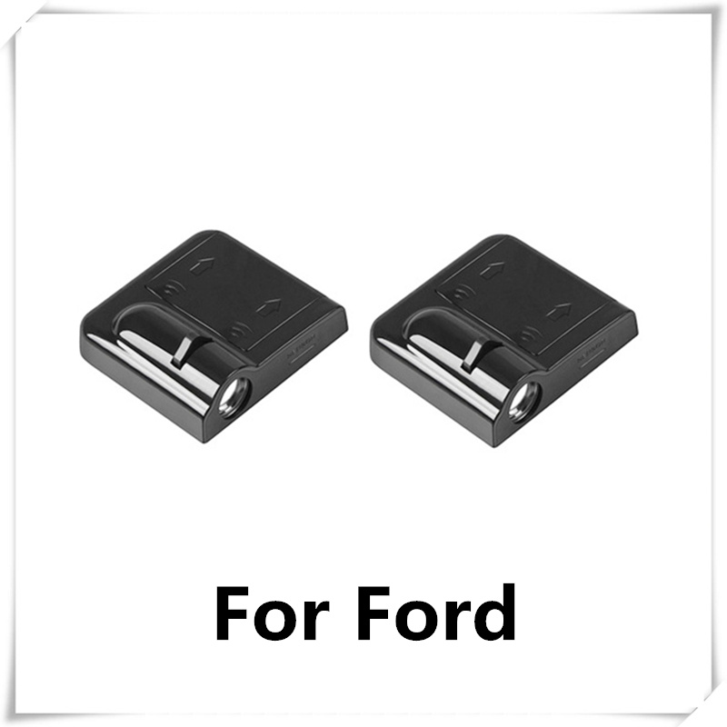 2pcs Car-styling Led Wireless Car Door Logo Lights For Ford Focus 1 2 3 Fiesta Kuga Ranger Mondeo Mk3 Mk4 Ecosport