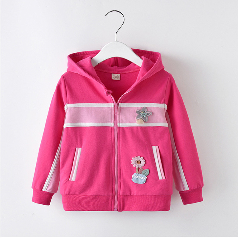 Girls Spring Autumn Hoodies Children Fashion Sports Leisure Sweatshirts For Girls Kids Cotton Spring Tops Girls Clothing