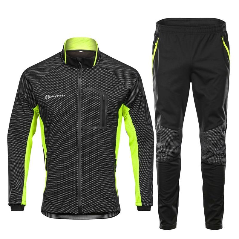 Комплект зимних велосипедных штанов, ветронепроницаемый термальный Мужской комплект для велоспорта с длинным рукавом, теплые комплекты для спорта на открытом воздухе, 2019|Велосипедные комплекты| | АлиЭкспресс