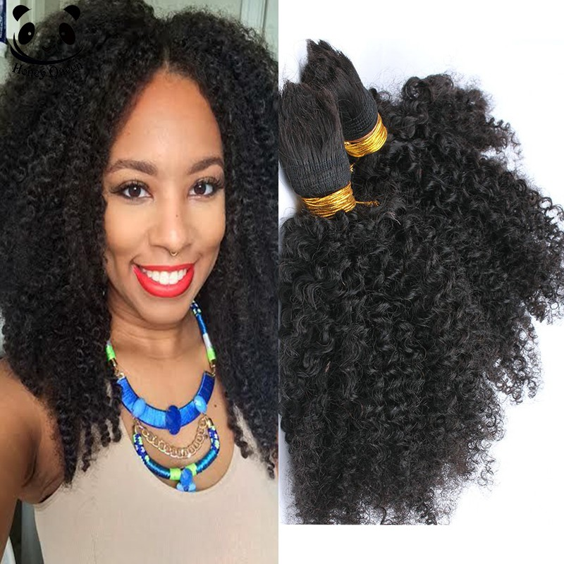 Human Braiding Hair Bulk No Weft Afro Kinky Bulk Hair For ...