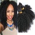 Trenzado de Cabello humano A Granel Sin Trama Afro Rizado Pelo A Granel para Trenzar Mongol Afro Rizado Curly Crochet Trenzas Micro Braiding pelo