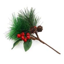 Artificial Pine Picks for Christmas Flower Arrangements Wreaths Holiday Decor Mini Simulation Tree PVC Shooting Props