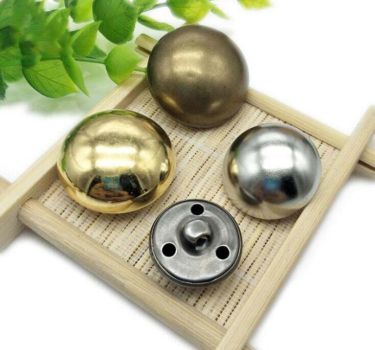 "Brass Metal Buttons Double Rim Design 18mm 11//16/"" 4hole 100 Antique old"
