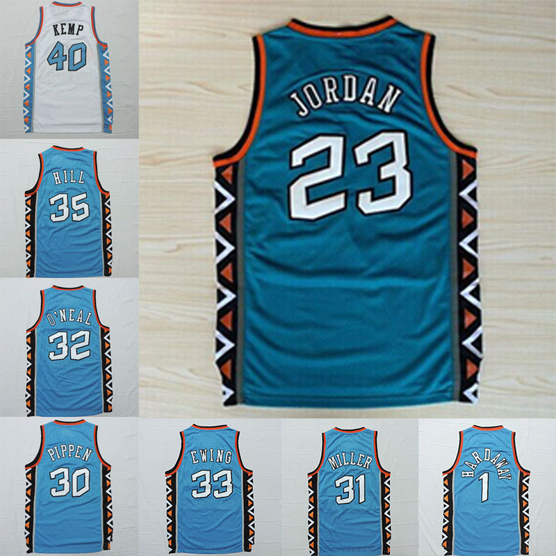 22c0f474 ... free shipping east 1996 all star jersey throwback basketball jersey  pippen jordan o neal kemp hill