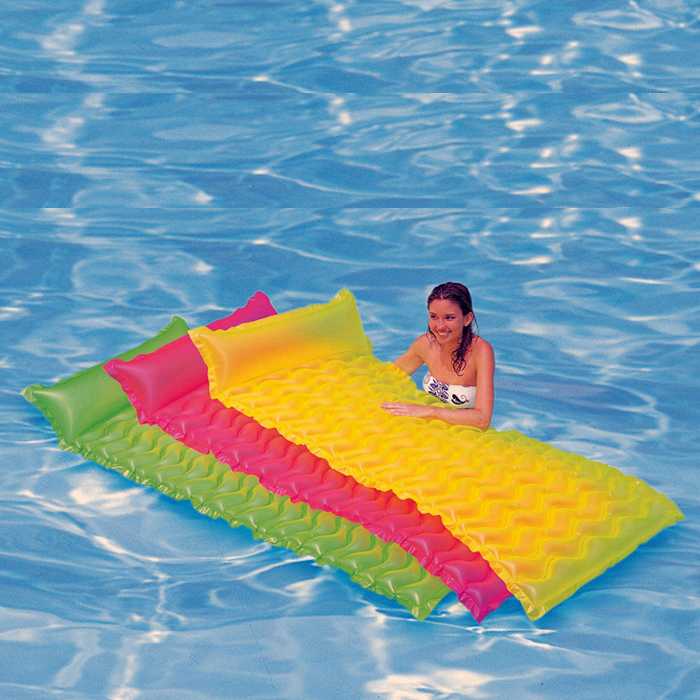 water sports inflatables Kids' Floats 229*86CM PVC pool floaties lounger floating island giant inflatable pool float adult games