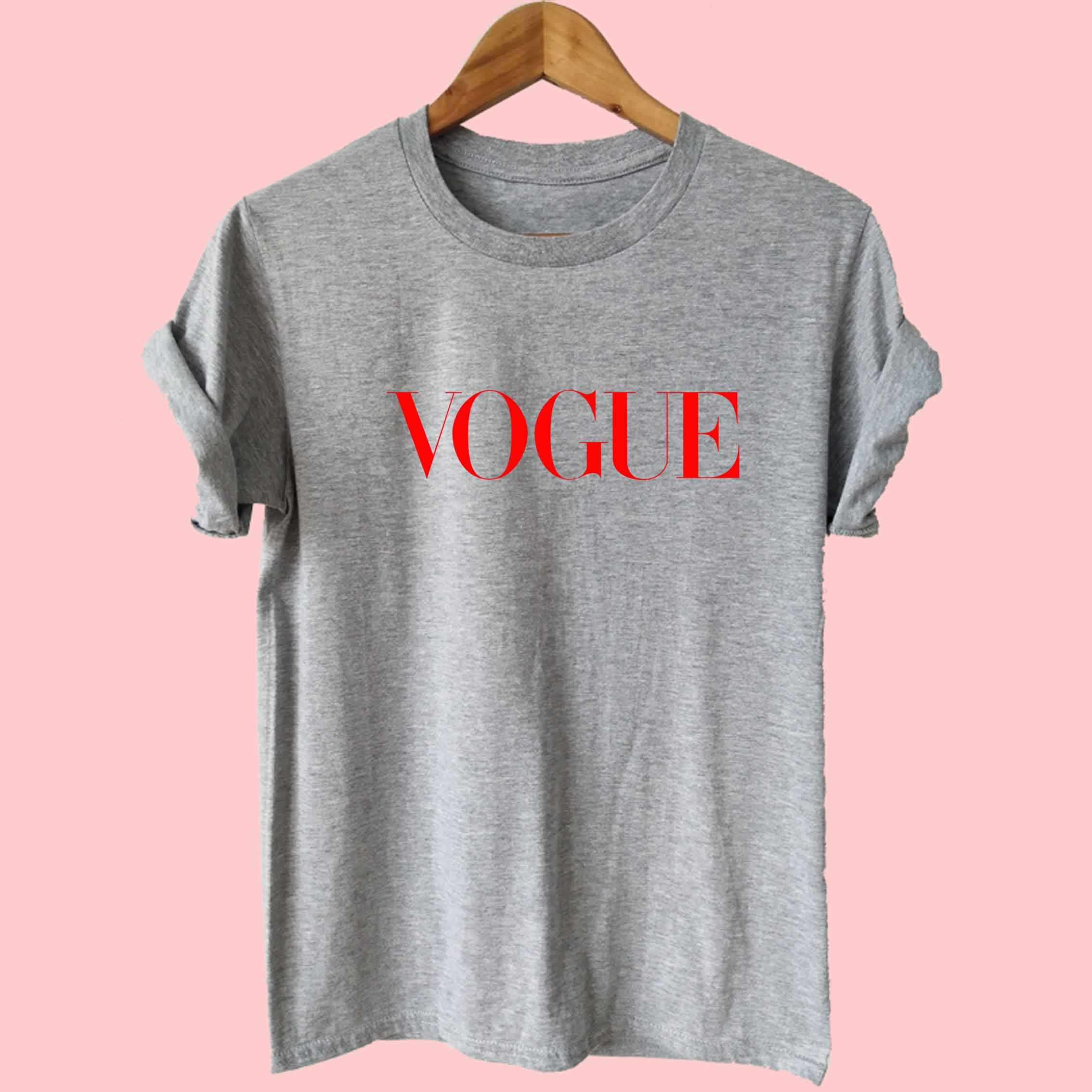 7735c33d1a276 Harajuku Summer T Shirt Women New Arrivals Fashion RED VOGUE letters  Printed T-shirt Woman Tee Tops Casual Female T-shirts