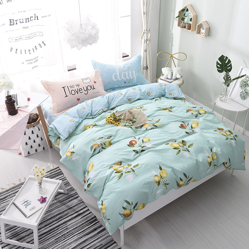 Quilt Cover/Tablet/Pillowcase 4pc Multi-Style Optional Home Textile New Comfortable Soft Bedding Simple Generous Home CottonQuilt Cover/Tablet/Pillowcase 4pc Multi-Style Optional Home Textile New Comfortable Soft Bedding Simple Generous Home Cotton