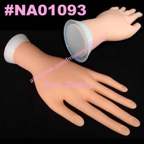 Freeshipping-Plastic Flectional Model Hand Adjust Nail Art Practice Tool Wholesales  SKU:F0040X