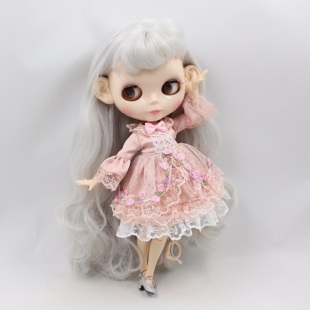 Neo Blythe Doll Princess Pink Flower Dress 2
