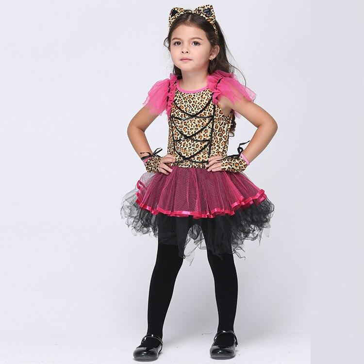 95 135Cm Girl Cosplay Costumes Halloween Cat Cos Dress School Party Little Girl -4134