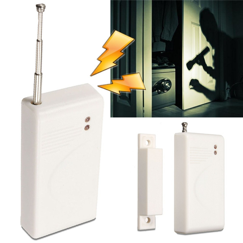 315 HZ Safely Security Household Doors Windows Cabinet Wireless Magnetic Door Dnti-theft Alarm White