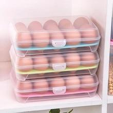 Æggebeholder Enkeltlag Køleskab Fødevarer 15 Æggetørret Opbevaringsbeholder Plastkasse Contenedor De Huevos 4 Farver #BF