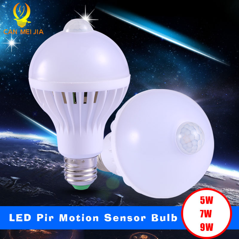 Canmeijia Hot Sale Smart Pir Motion Sensor 7 W Lamps E27