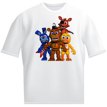 FIVE NIGHTS AT FREDDYS WHITE T-SHIRT (FAB FOUR) GAME ALL SIZES GREAT GIFT Harajuku Tops Fashion Classic Unique free shipping