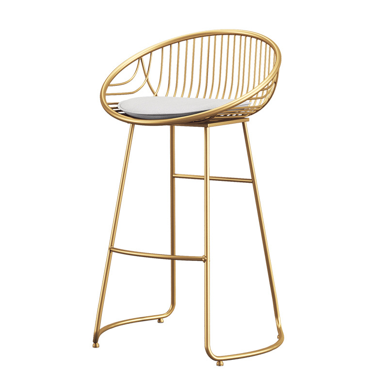 H 15%Modern Minimalist Wrought Iron Bar Chair High Stool Bar Stool Bar Table And Chair Nordic Bar Chair