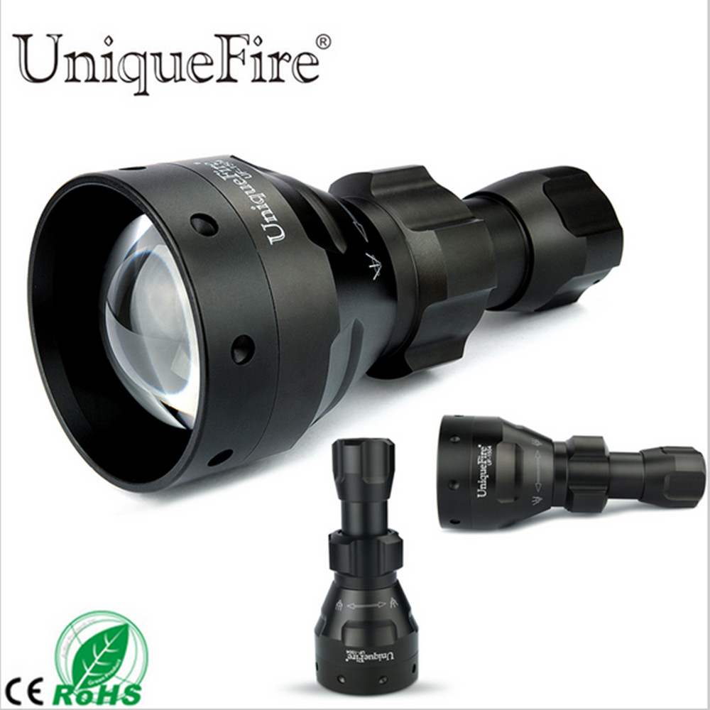 UniqueFire UF-1504 CREE XM-L2 Flashlight 1200LM 5 Modes White Light LED Torch 67mm Convex Lens Aluminum Alloy Lamp Lanterne uniquefire uf 1200 super bright cree u2 lamp flashlight light from outdoor hiking night fishing hunting led flashlight