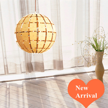 Chinese creative Ply-Wood chips Chandelier handmade indoor E27 burlywood spherical led lamp for porch&gallery&pavilion BT119-400 2016 creative novelty blue shade ply wood chips chandelier e27 led floral lamp indoor lamp for stairs