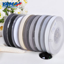 YAMA Grosgrain Ribbon 6 9 13 16 19 22 mm 100 yards/lot Black White Silver Red Solid for Packing Diy Decoration Wedding Party(China)