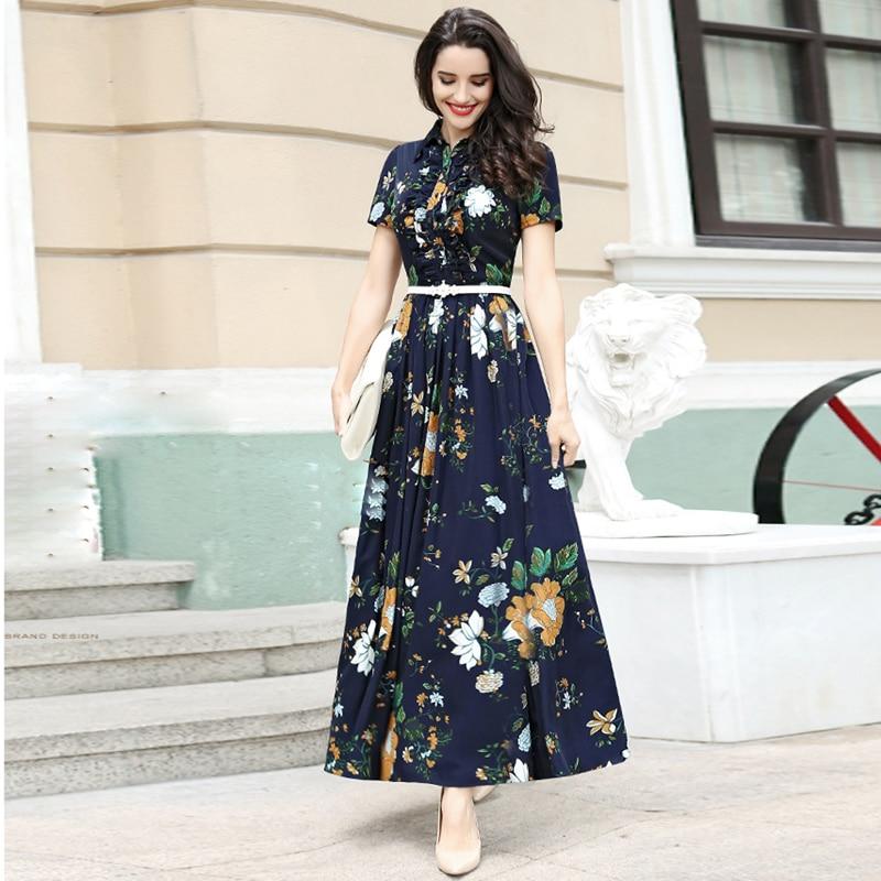 HIGH QUALITY New Fashion 2017 Designer Maxi Dress Women's ...