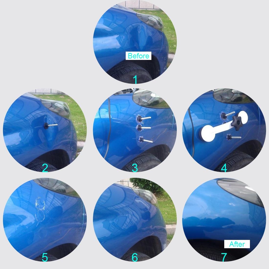 BU-Bauty 9 pz UE FAI DA TE Auto Dent Repair Tool di Rimozione di Riparazione Kit Portello di Automobile Del Corpo Auto 40 w hot Melt Pistola di Colla Tirando Ponte Dispositivo