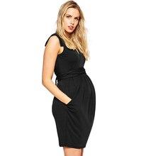 Con cuello en v Vestido de Noche Formal Para Las Mujeres Embarazadas Elegantes Fajas de Maternidad Prom Vestidos Oficina de Señora Party Vestido S-XXXL