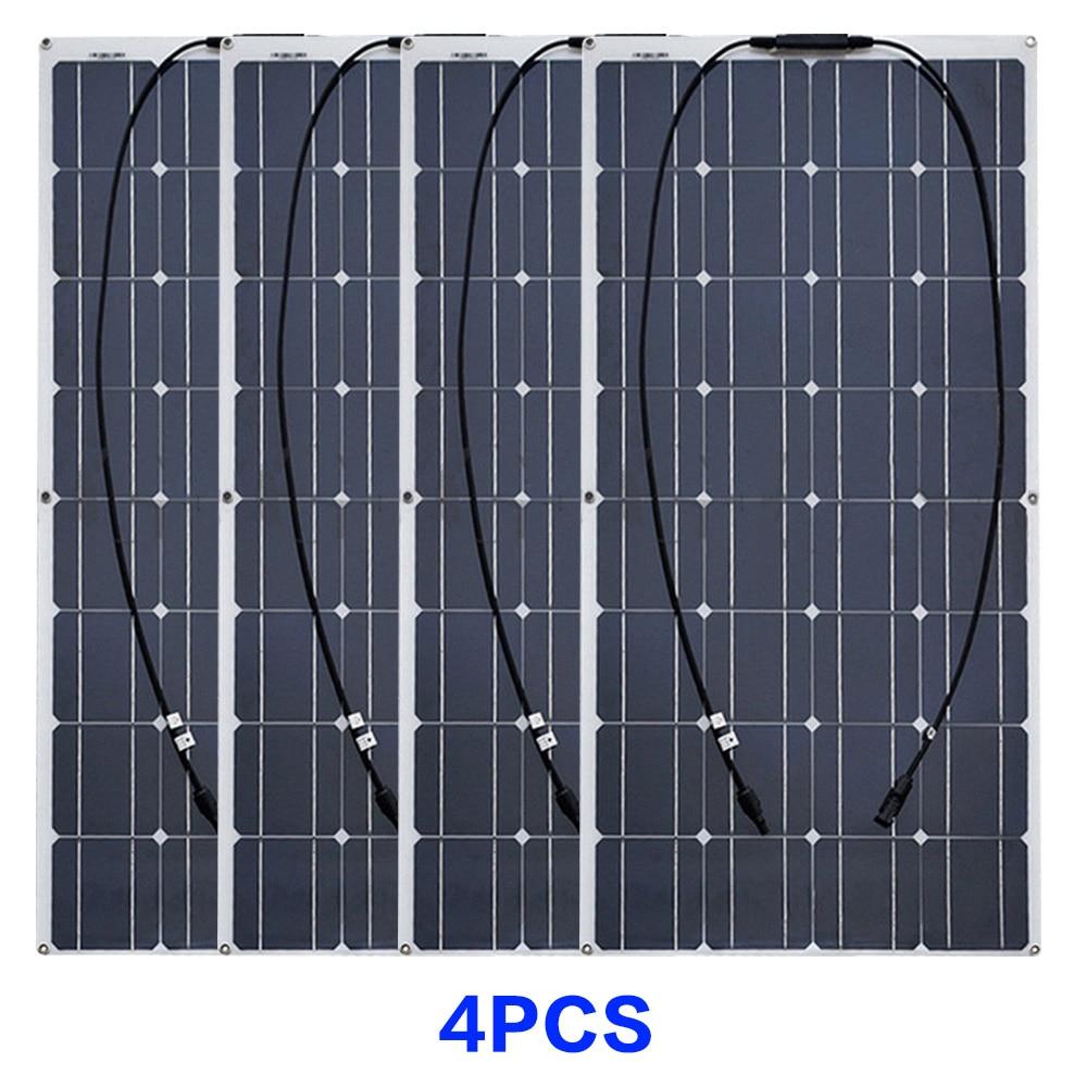 4 pcs solar panels