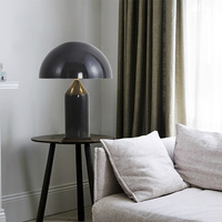 TZ Atollo Italy Modern Mushroom Table Lamp White Black Gold Desk Lamp Light for Bedroom Living Room Study Lampara De Mesa Para