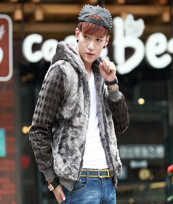 Korean plus velvet font b Men s b font winter font b jackets b font young