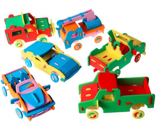 3D EVA Foam Puzzle Toy Handmade Car Truck Vehicle Model Children DIY Craft Kits Kids Gift