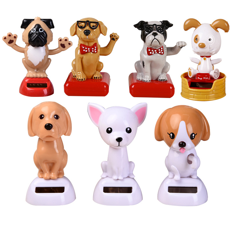 Magic Solar Powered Dancing Dogs Swinging Bobble Toy Gift Car Decoration Novelty Happy Dancing Solar Animal Toys For Children