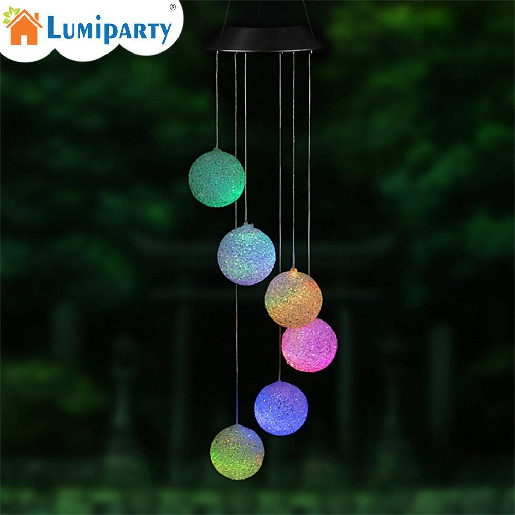 LumiParty Solar LED Light Color Changing Wind Chimes Delicate Ball Pendant Bell Yard Garden Home Decor hettich 1434b 06