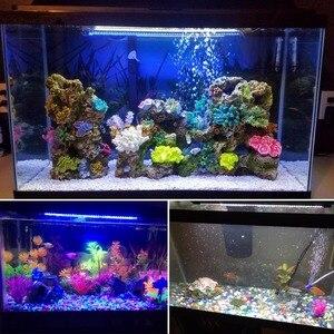 Image 5 - AIMENGTE 110V 220V Aquarium Fish Tank lamp RGB LED Hard Strip Bar light 19cm 29cm 39cm 49cm IP68 Waterdicht Decoratie lamp