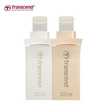 Transcend JetDrive Go 500 Lightning USB 3.1 3.0 Flash Drive 64GB For iPhone7/7P/6/6s/iPad Metal OTG Pen Drive 32GB Memory Stick