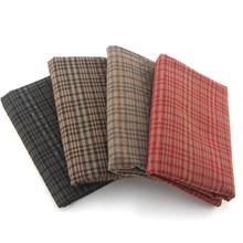 DIY Япония маленькая ткань группа окрашенная пряжа ткань, для шитья ручная работа пэтчворк Квилтинг, сетка полоса точка 50x150 см