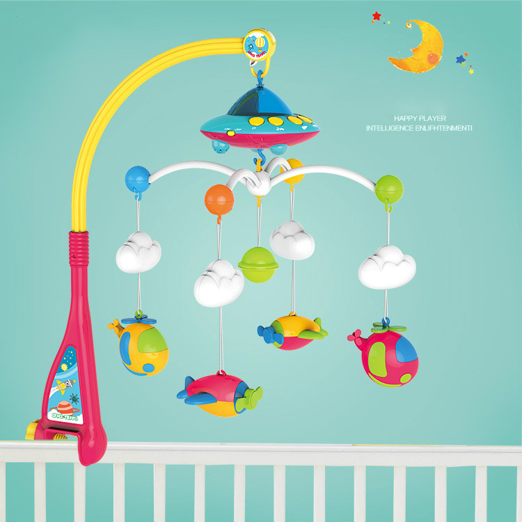 Bébé hochets bébé lit cloche 0-1 an né 0-12 mois rotatif musique suspendus bébé hochet support set bébé Mobiles jouets