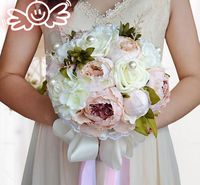 New Arrival Pink Handmade Bridal Bouquet Bride Flower Wedding Party Accessories Pears