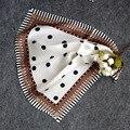 100% Bufanda de Seda Pura de Las Mujeres de Moda Cuadrado Grande Pañuelo Stain 2016 Dot Bandana Foulard Pañuelo Para El Cuello Bufandas de la Señora de la Oficina de Regalo