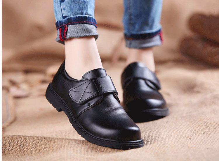 2018 Boys Children Cow Leather Shoes Student School Shoes Children Casual Shoes Flats shoes Kids Sneakers
