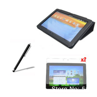 4in1 Luxury Magnetic Folio Stand Leather Case Cover 2x Screen Protector Stylus For Huawei Mediapad 10