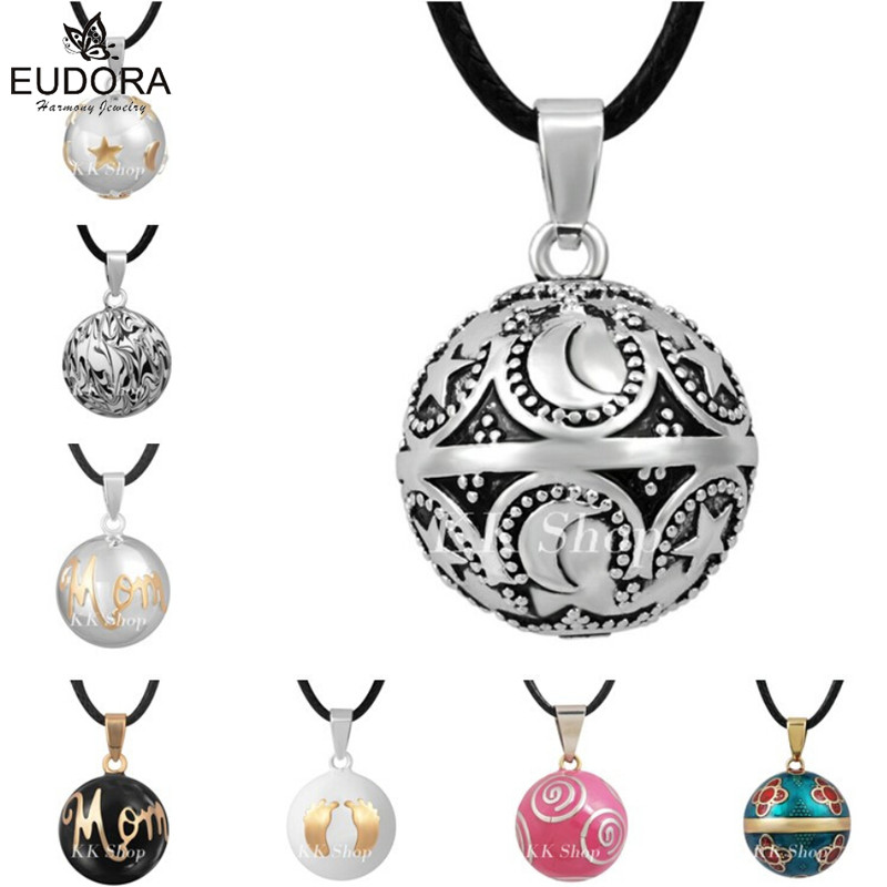 цена на Mexican Bola Eudora Harmony Ball Pendant Angel Caller Necklace Mix Design Musical Sound Chime Ball Jewelry for Pregnant Women